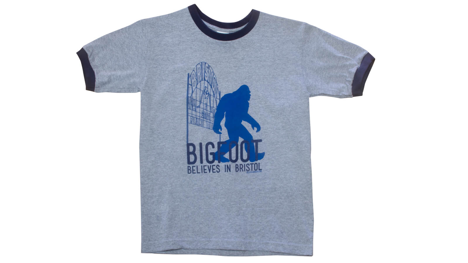 Bigfoot T-shirt (Grey/Blue)