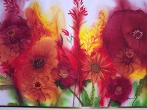 Floral Frenzy Water Color by Joyce Samuel