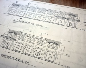 Drawings detail plans for the front and sides of the Birthplace of Country Music Heritage Museum. (File photo by Earl Neikirk/Bristol Herald Courier)