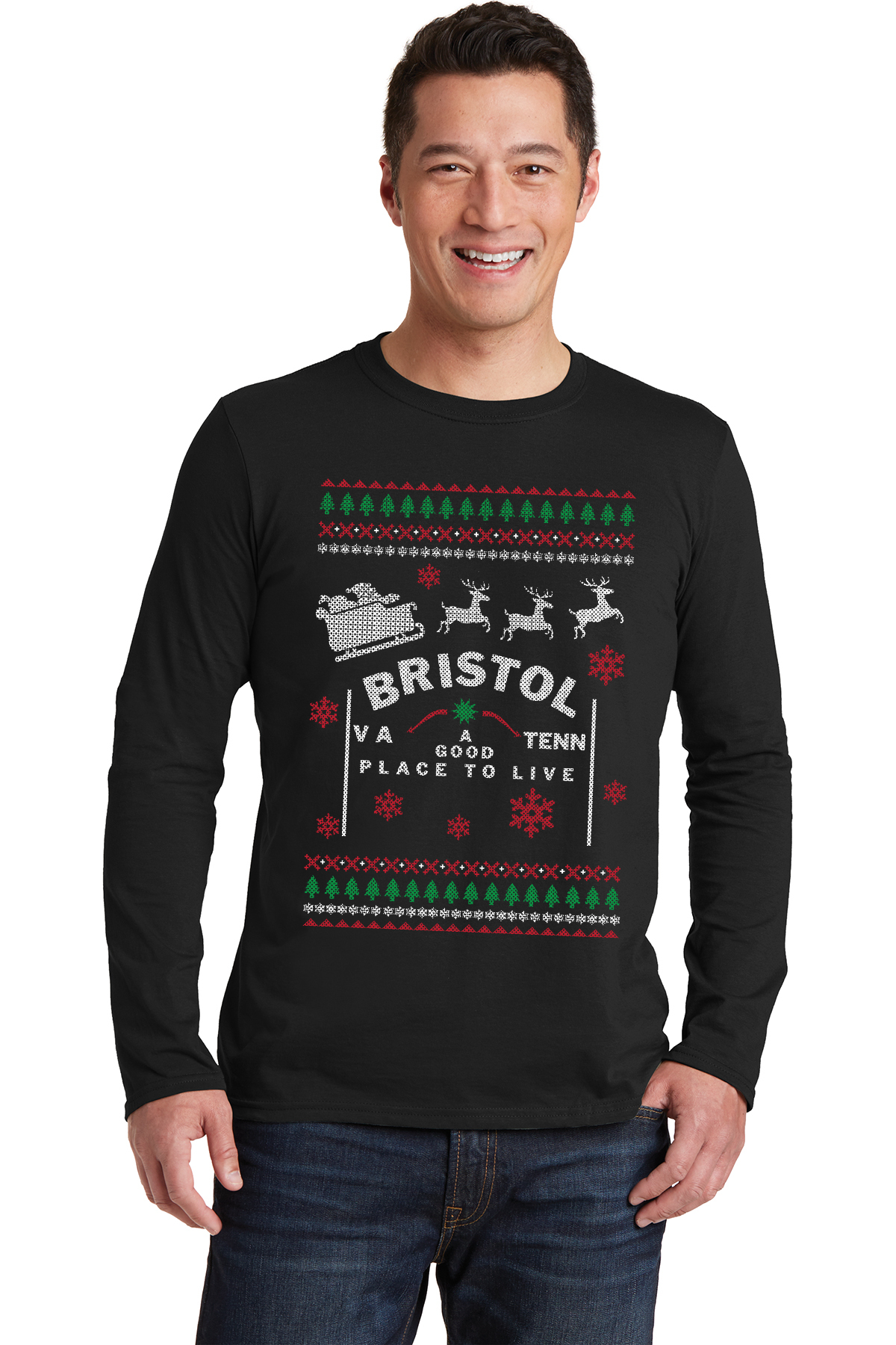 Long-Sleeved Tacky Christmas T-Shirt